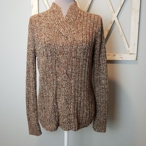 brown mock neck sweater XL